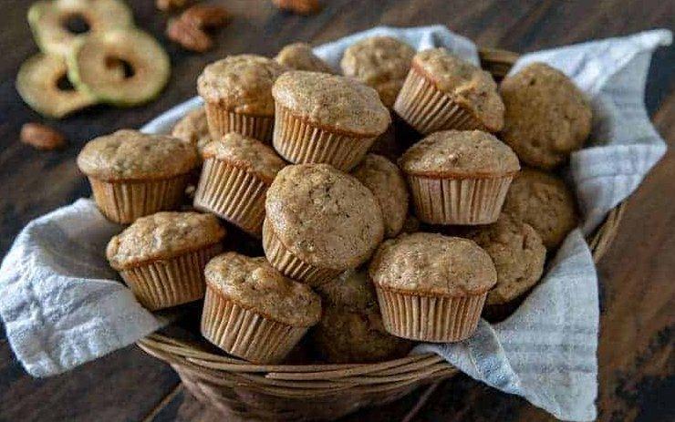 Almás kender muffinok