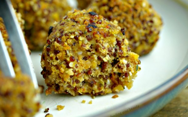 Lencse, quinoa, kendermag gombóc
